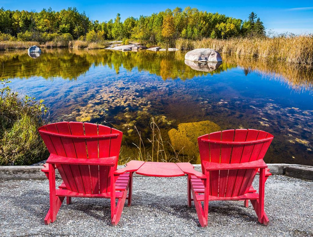 Red Chair Travels to Hidden Serenity Bed and Breakfast 1